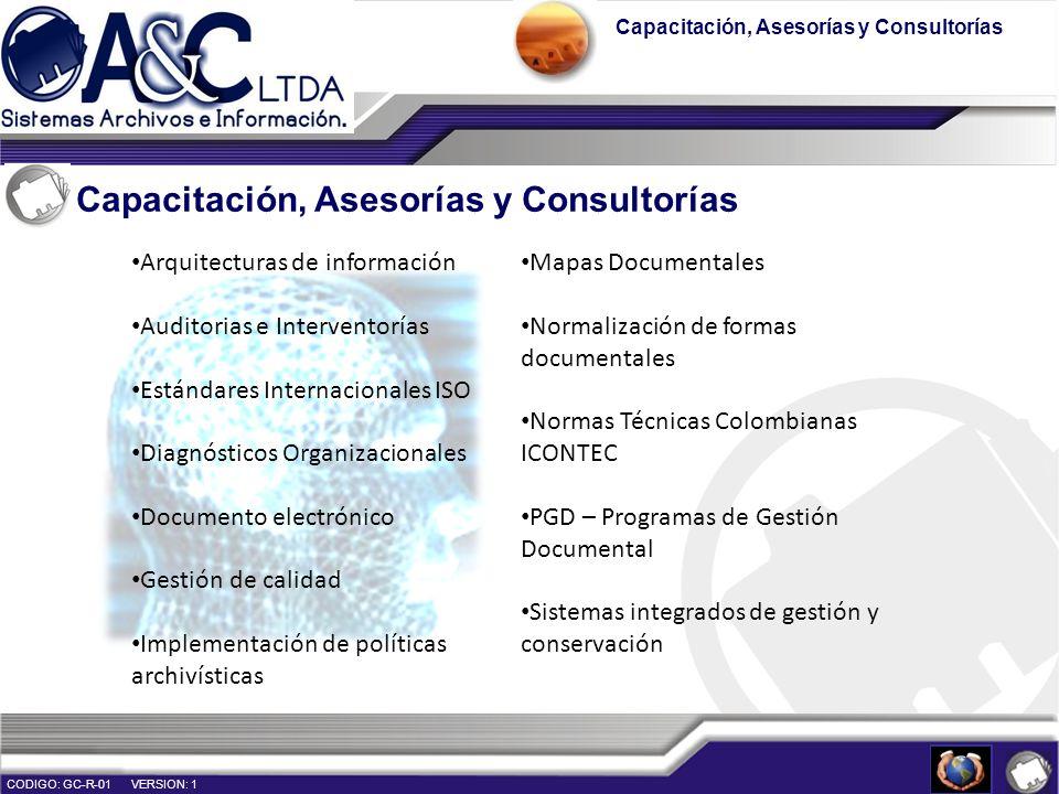 Capacitación, Asesorías y Consultorías