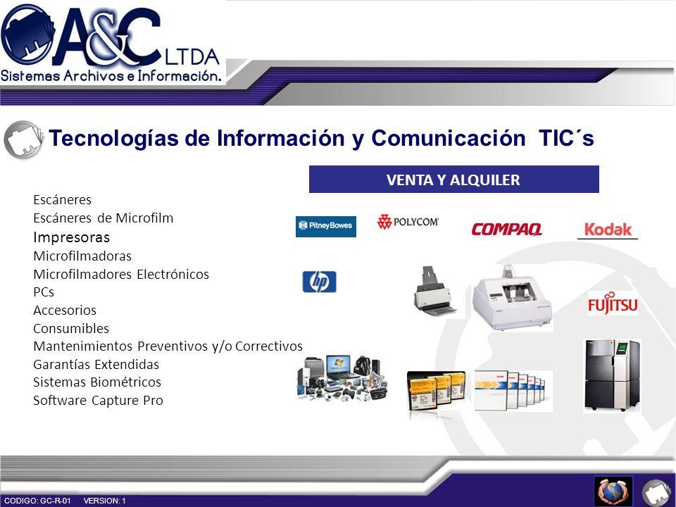 Tecnologías de Información y Comunicación TIC´s