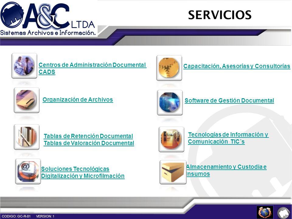 SERVICIOS Centros de Administración Documental