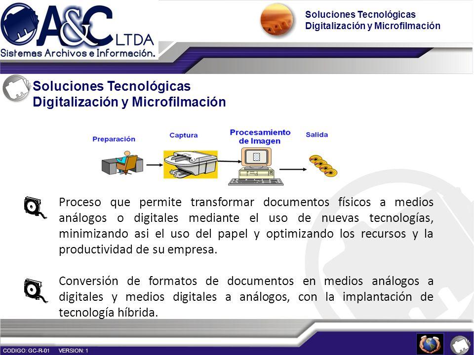 Soluciones Tecnológicas Digitalización y Microfilmación