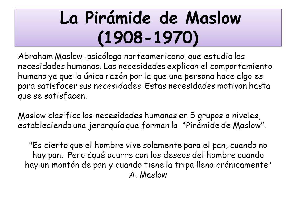 La Pirámide de Maslow (1908-1970)