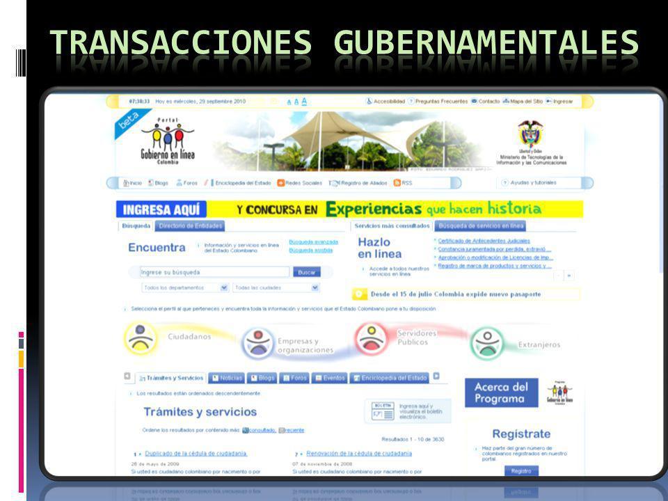 Transacciones gubernamentales