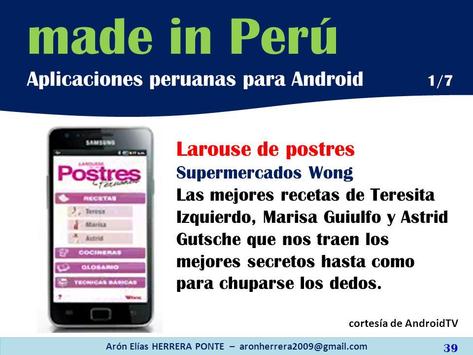 Arón Elías HERRERA PONTE – aronherrera2009@gmail.com