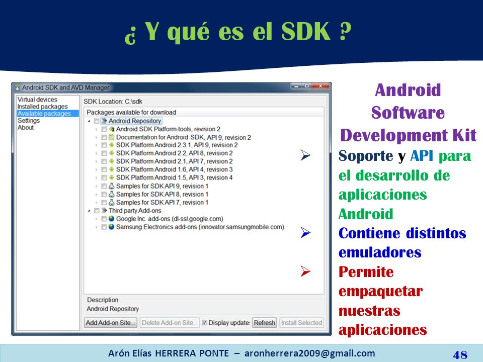 ¿ Y qué es el SDK Android Software Development Kit