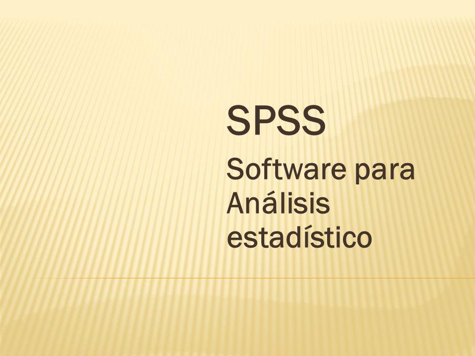 SPSS Software para Análisis estadístico