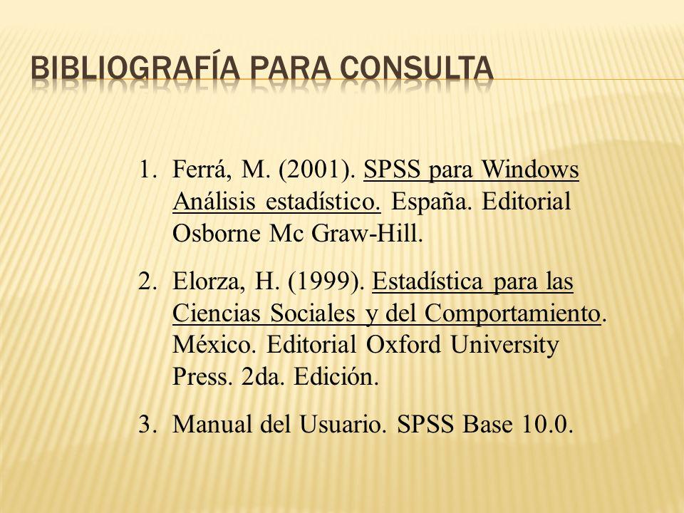 Bibliografía para consulta