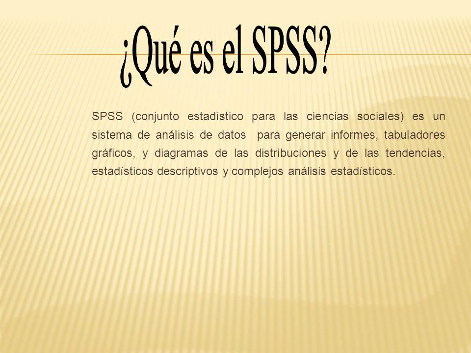 ¿Qué es el SPSS