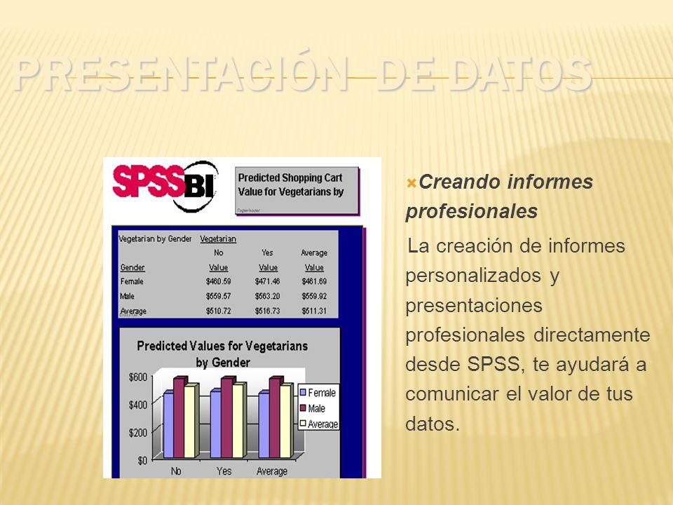 Presentación de Datos Creando informes profesionales