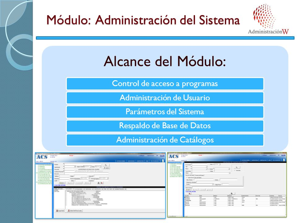 Módulo: Administración del Sistema