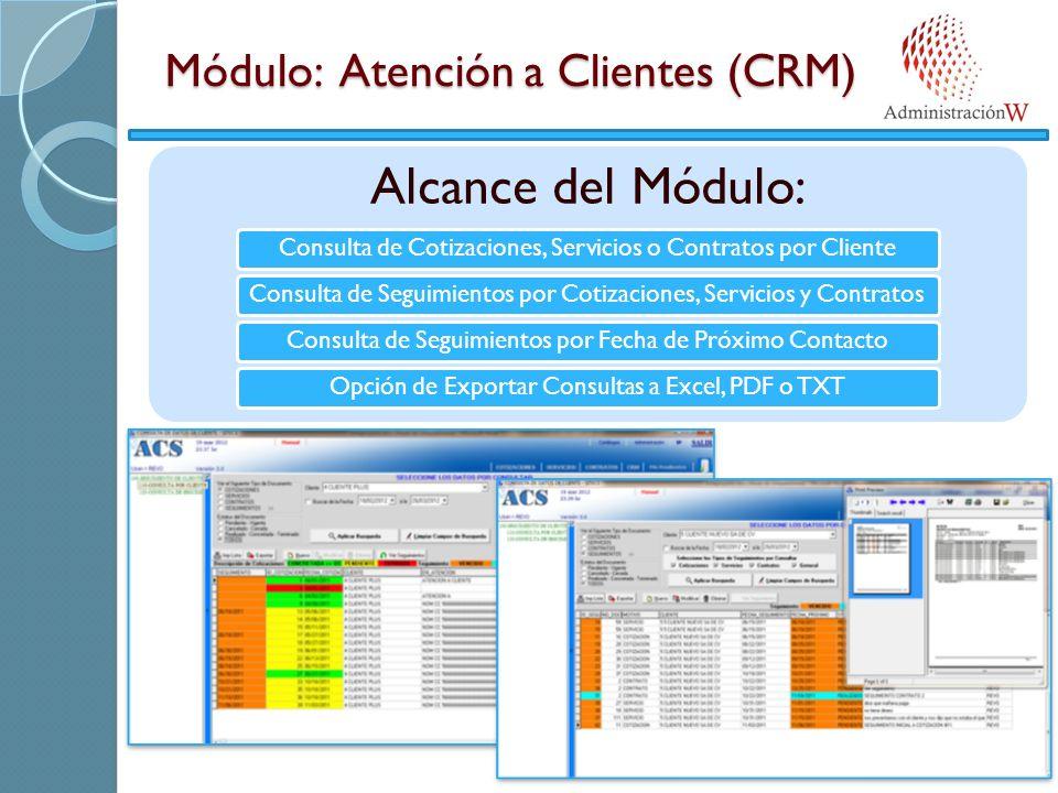 Módulo: Atención a Clientes (CRM)