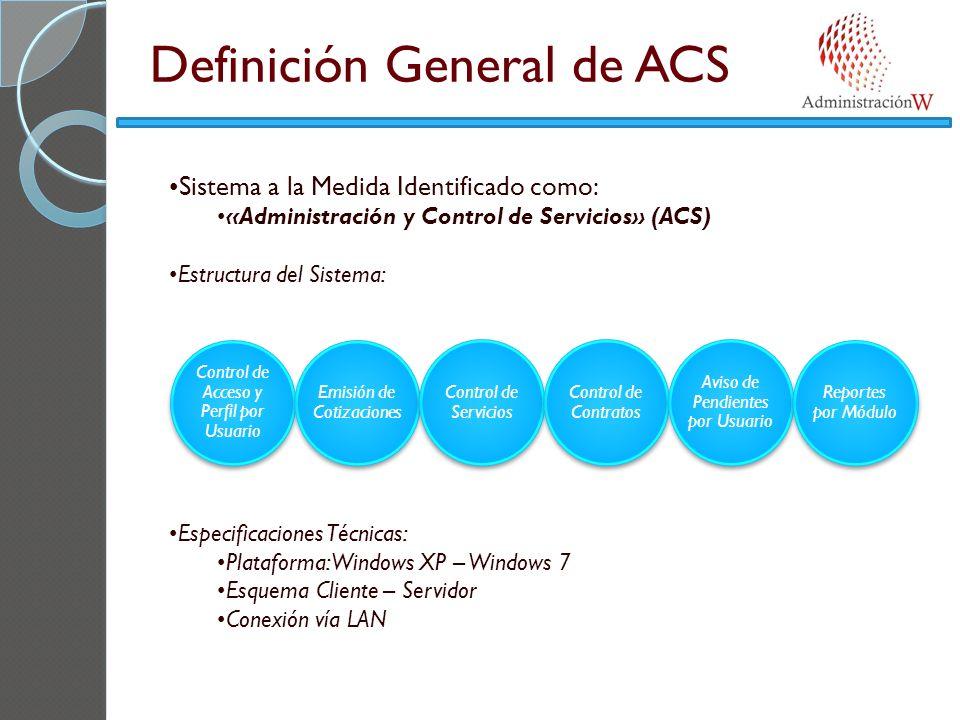 Definición General de ACS