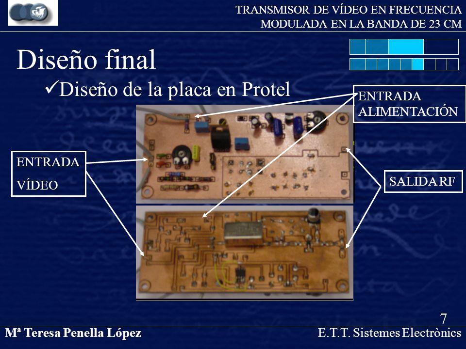 Diseño final Diseño de la placa en Protel 7 ENTRADA VÍDEO