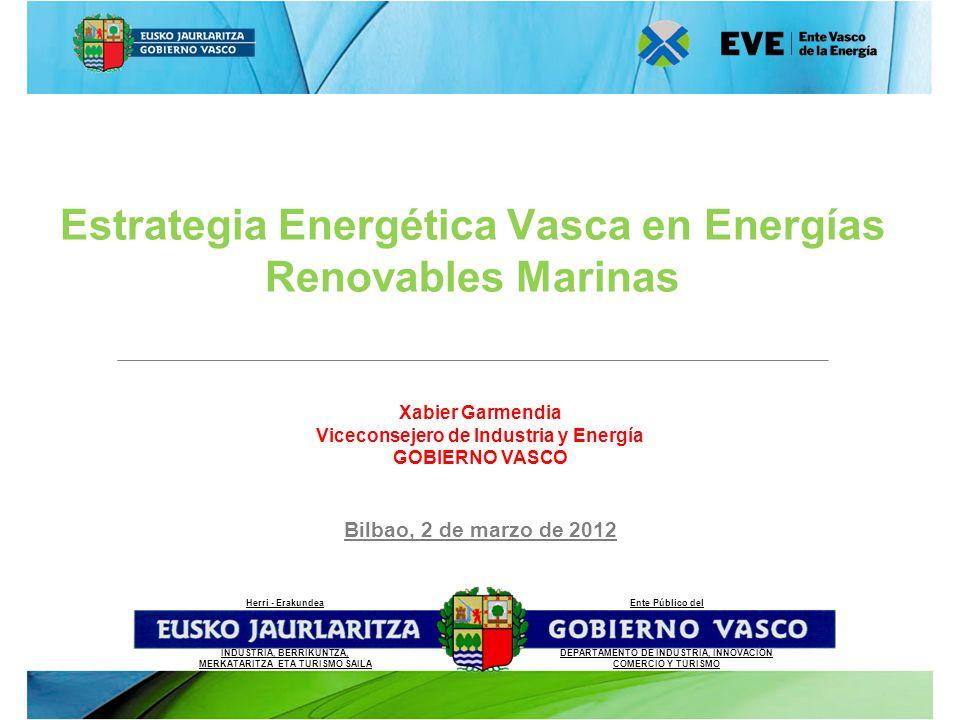Xabier Garmendia Viceconsejero de Industria y Energía GOBIERNO VASCO