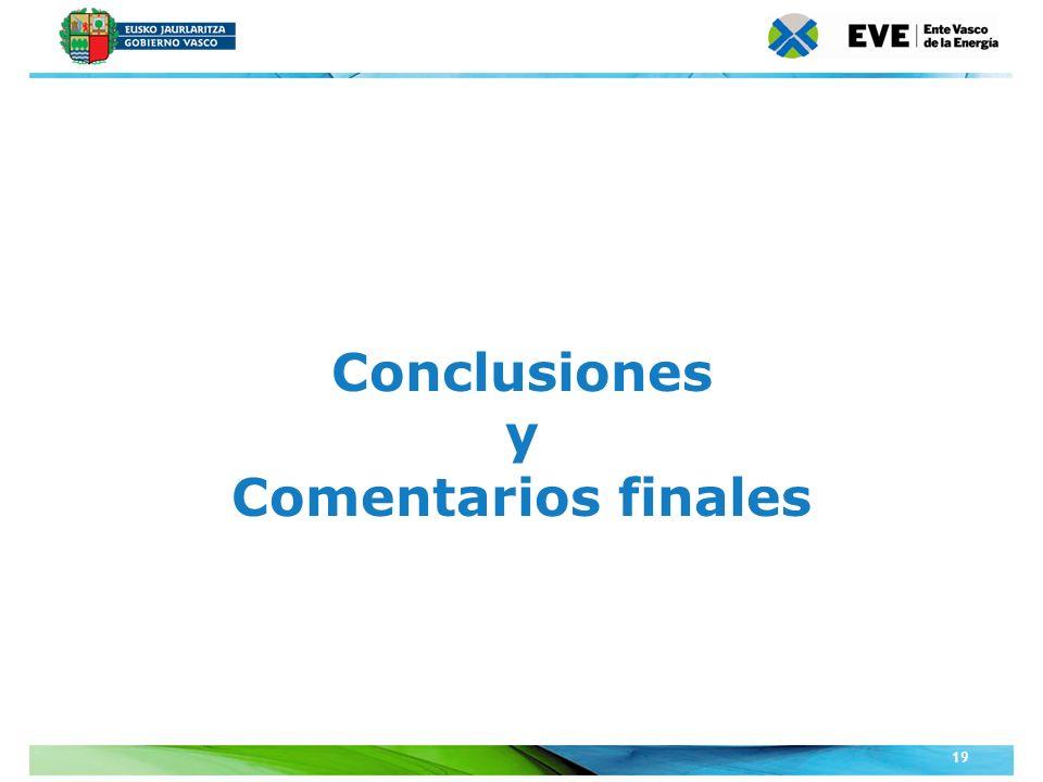 Conclusiones y Comentarios finales