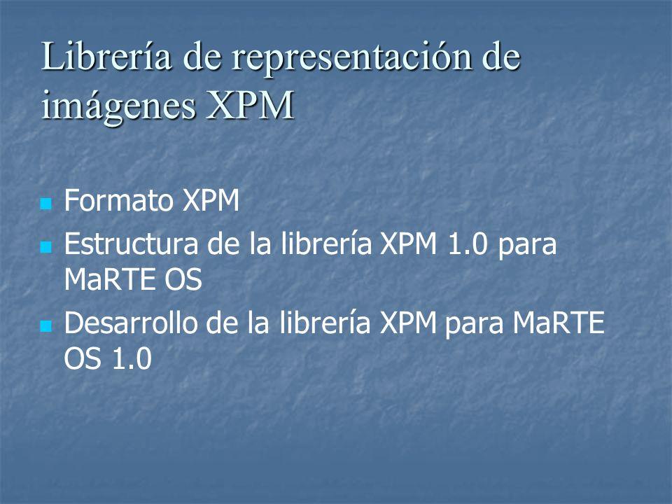 Librería de representación de imágenes XPM