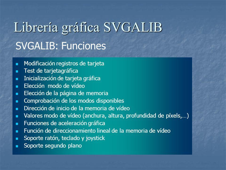 Librería gráfica SVGALIB