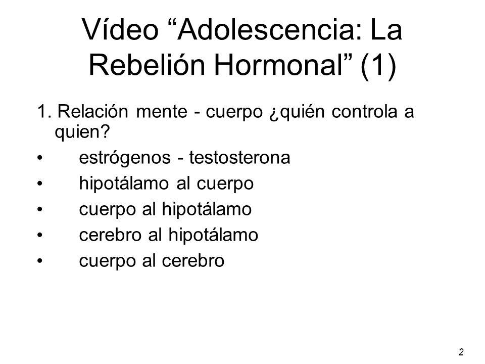 Vídeo Adolescencia: La Rebelión Hormonal (1)
