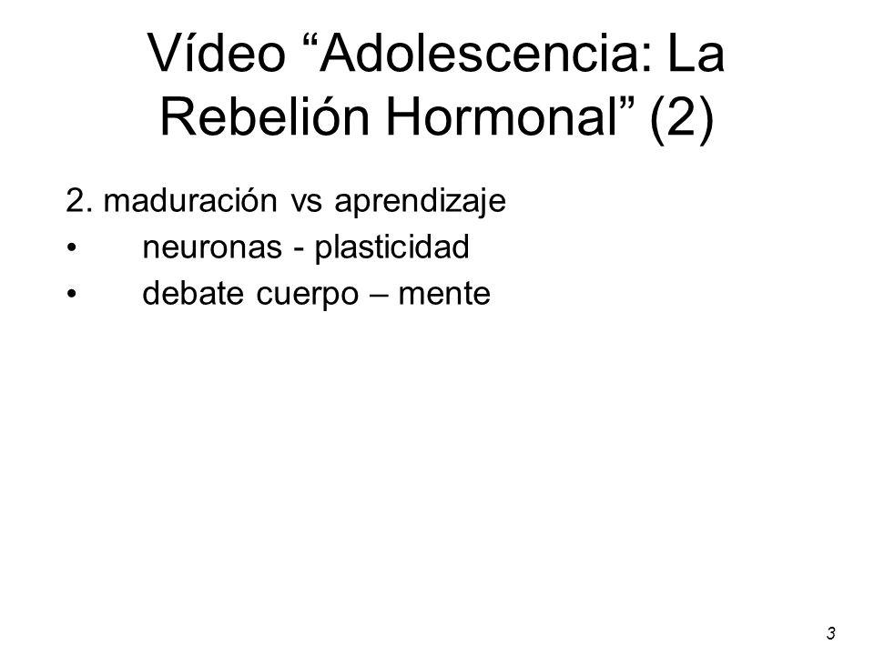 Vídeo Adolescencia: La Rebelión Hormonal (2)