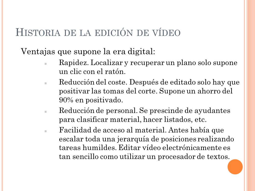 Historia de la edición de vídeo