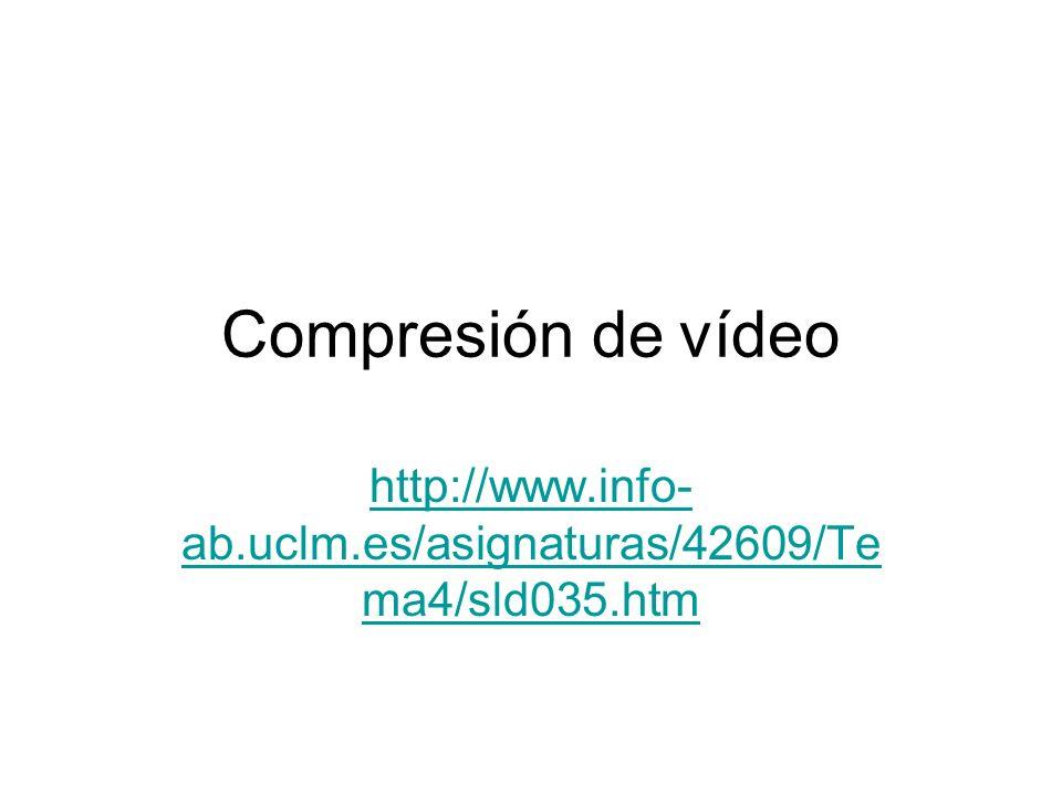 Compresión de vídeo http://www.info-ab.uclm.es/asignaturas/42609/Tema4/sld035.htm
