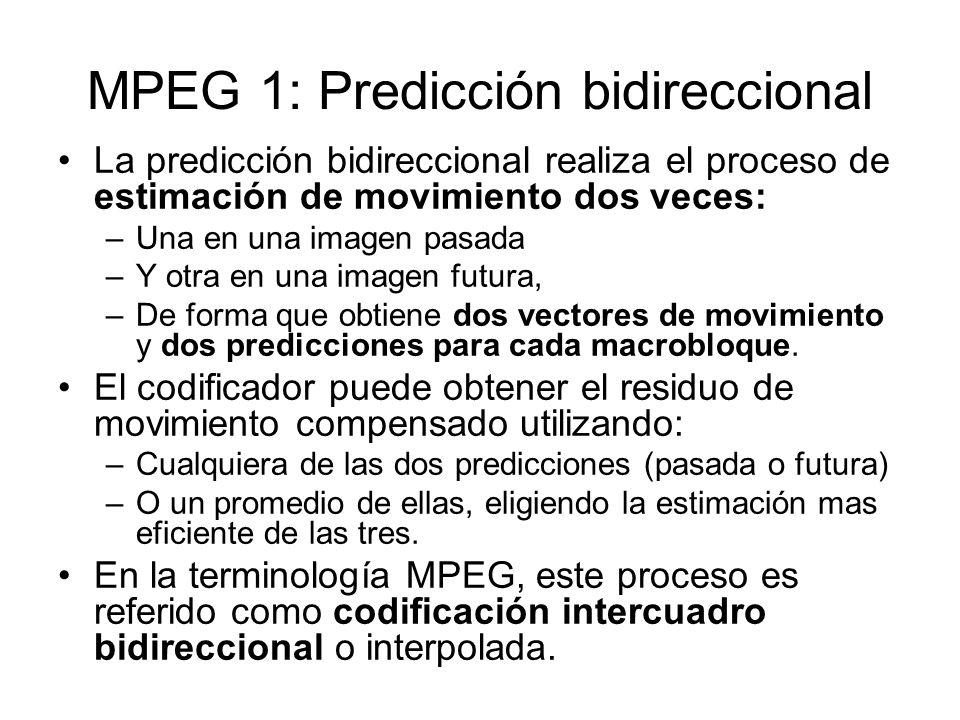 MPEG 1: Predicción bidireccional