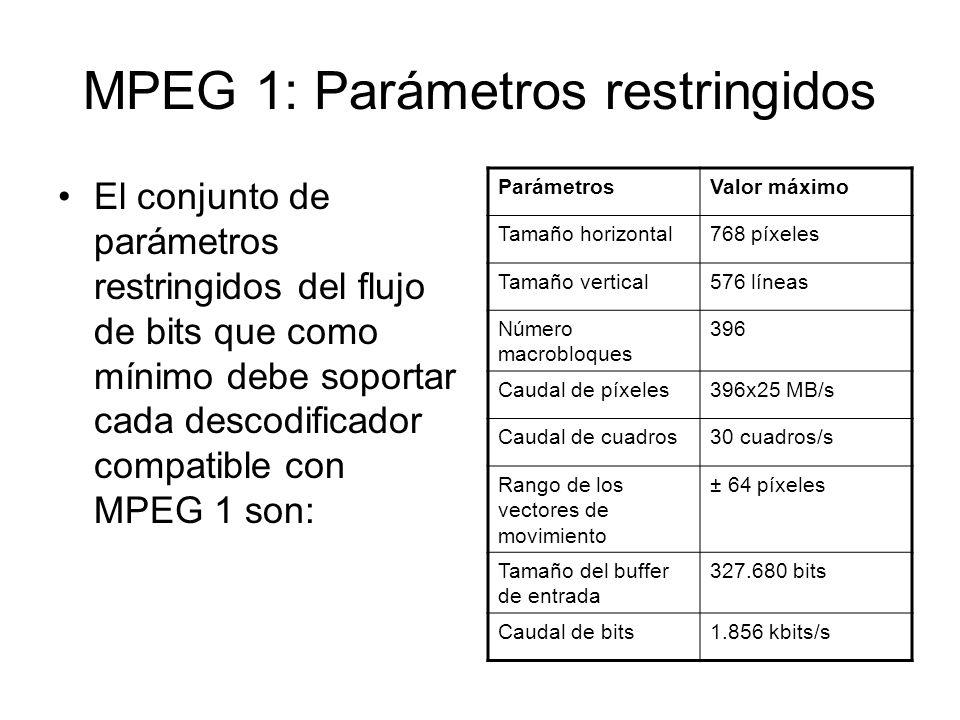 MPEG 1: Parámetros restringidos