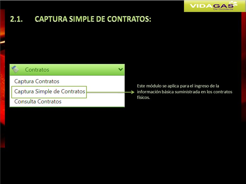 2.1. CAPTURA SIMPLE DE CONTRATOS:
