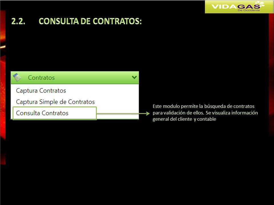 2.2. CONSULTA DE CONTRATOS: