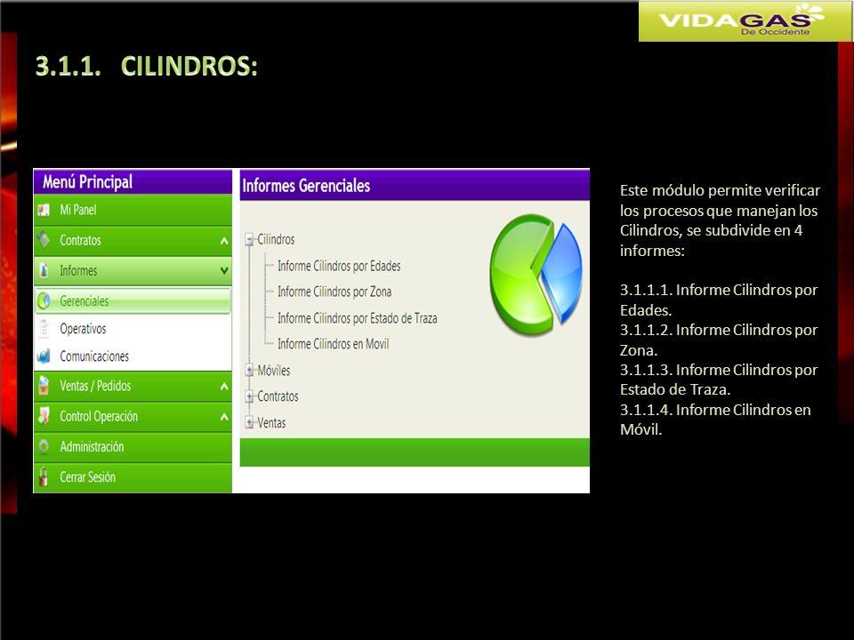 3.1.1. CILINDROS: Este módulo permite verificar