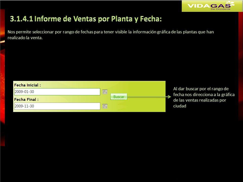 3.1.4.1 Informe de Ventas por Planta y Fecha: