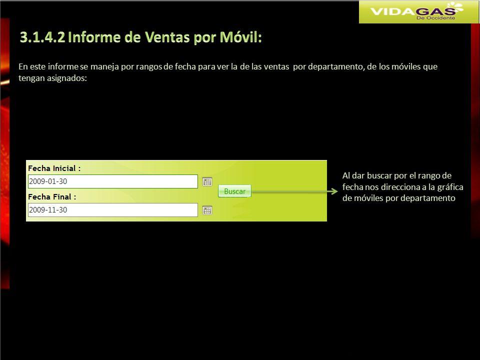 3.1.4.2 Informe de Ventas por Móvil: