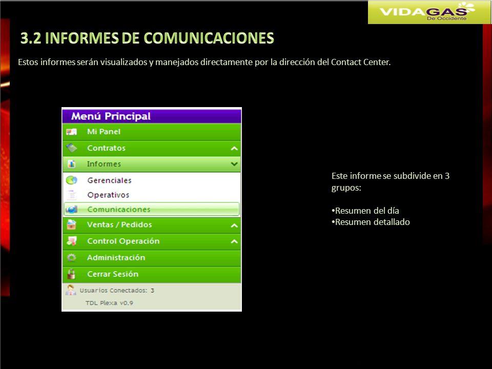3.2 INFORMES DE COMUNICACIONES
