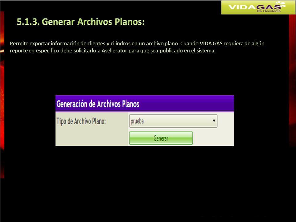 5.1.3. Generar Archivos Planos:
