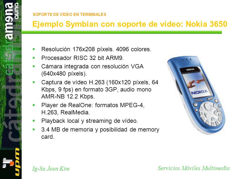 Ejemplo Symbian con soporte de vídeo: Nokia 3650