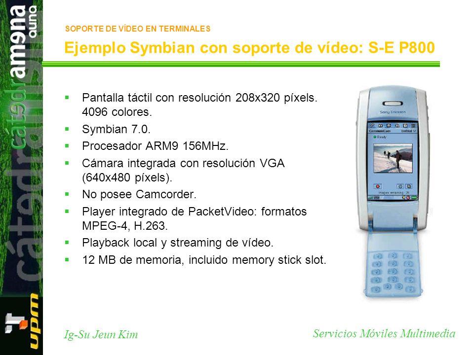 Ejemplo Symbian con soporte de vídeo: S-E P800