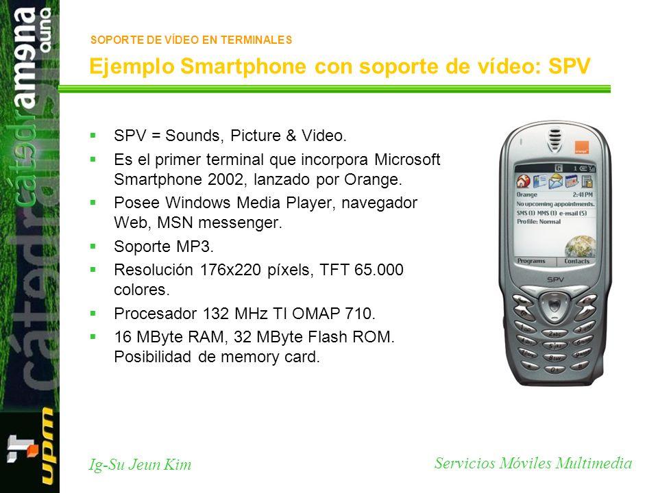 Ejemplo Smartphone con soporte de vídeo: SPV