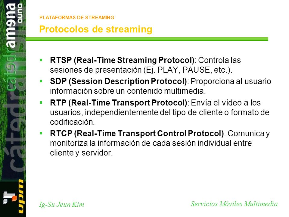 Protocolos de streaming