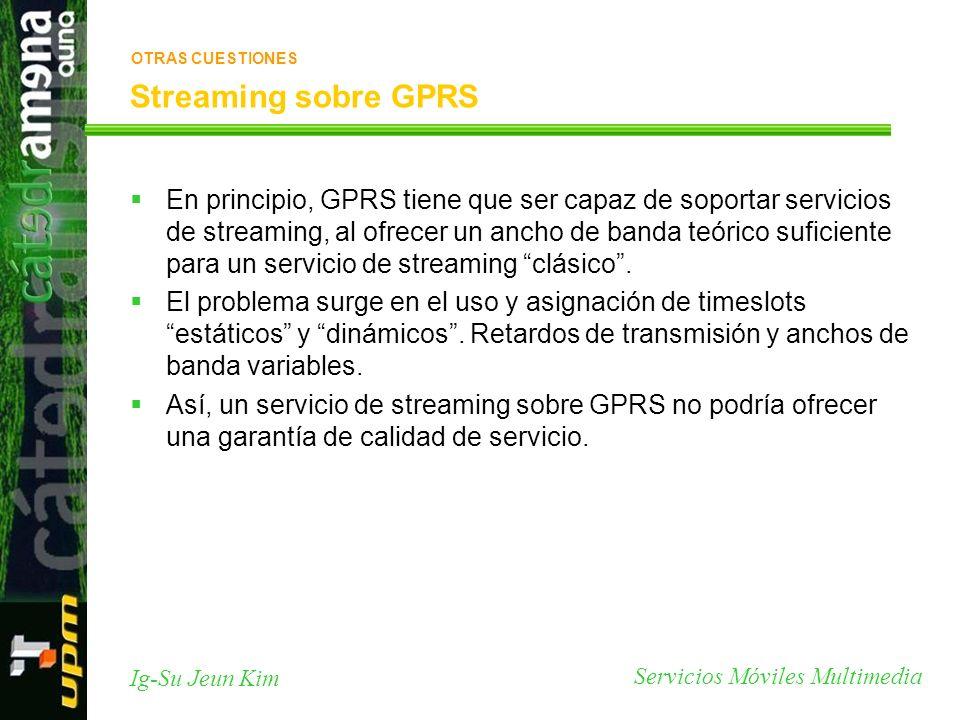 OTRAS CUESTIONES Streaming sobre GPRS.