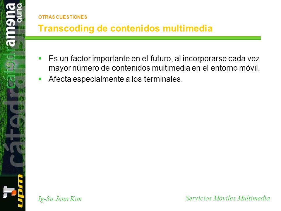 Transcoding de contenidos multimedia