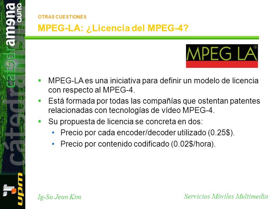 MPEG-LA: ¿Licencia del MPEG-4