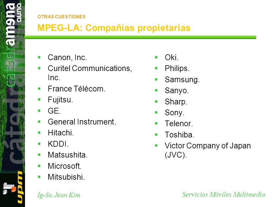 MPEG-LA: Compañías propietarias