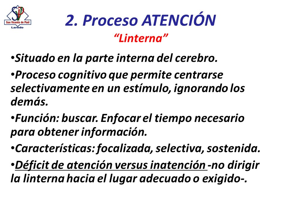2. Proceso ATENCIÓN Linterna