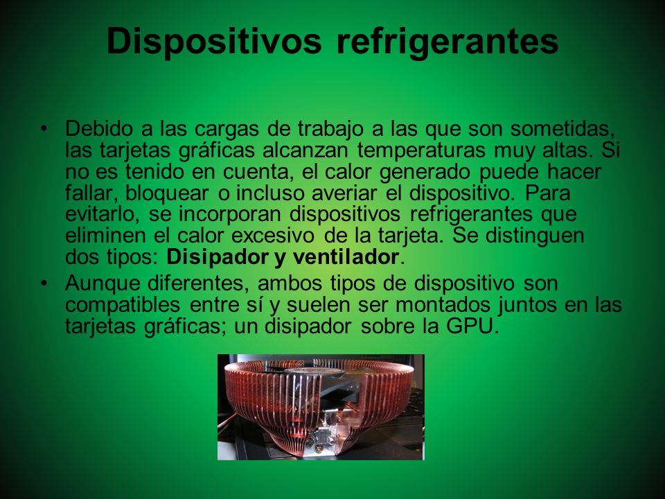 Dispositivos refrigerantes