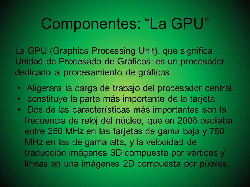 Componentes: La GPU