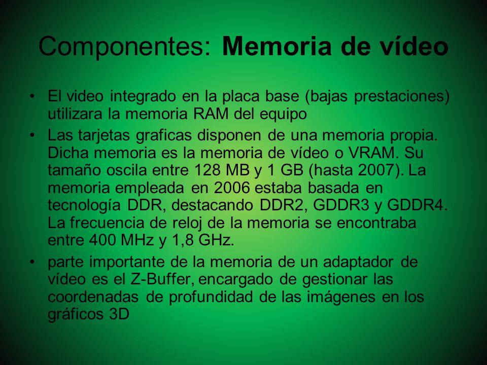 Componentes: Memoria de vídeo