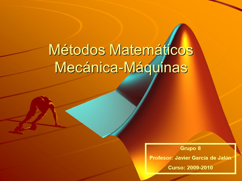 Métodos Matemáticos Mecánica-Máquinas