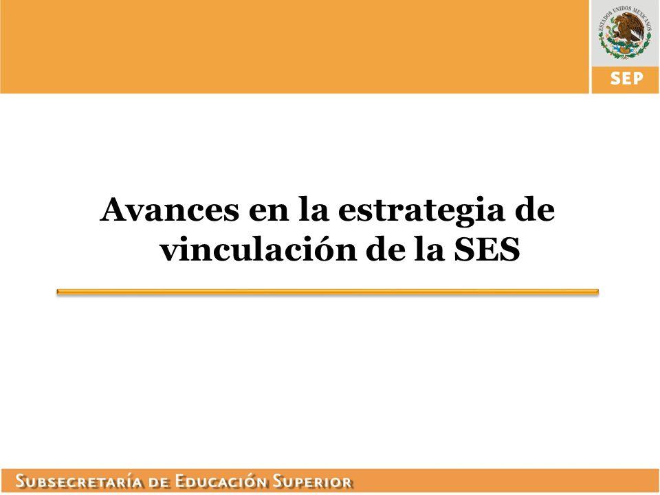 Avances en la estrategia de vinculación de la SES