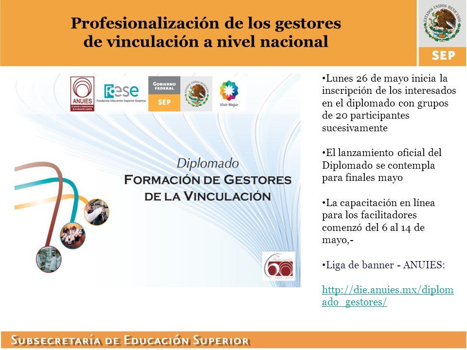Profesionalización de los gestores de vinculación a nivel nacional