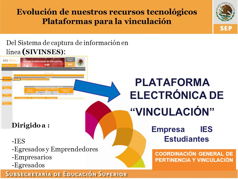 PLATAFORMA ELECTRÓNICA DE VINCULACIÓN
