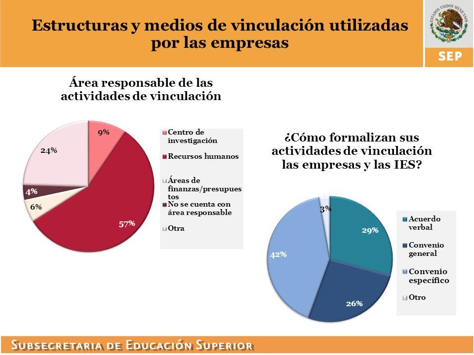 Estructuras y medios de vinculación utilizadas